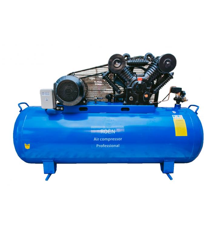Професионален бутален компресор за въздух 500L модел: ROEN 500