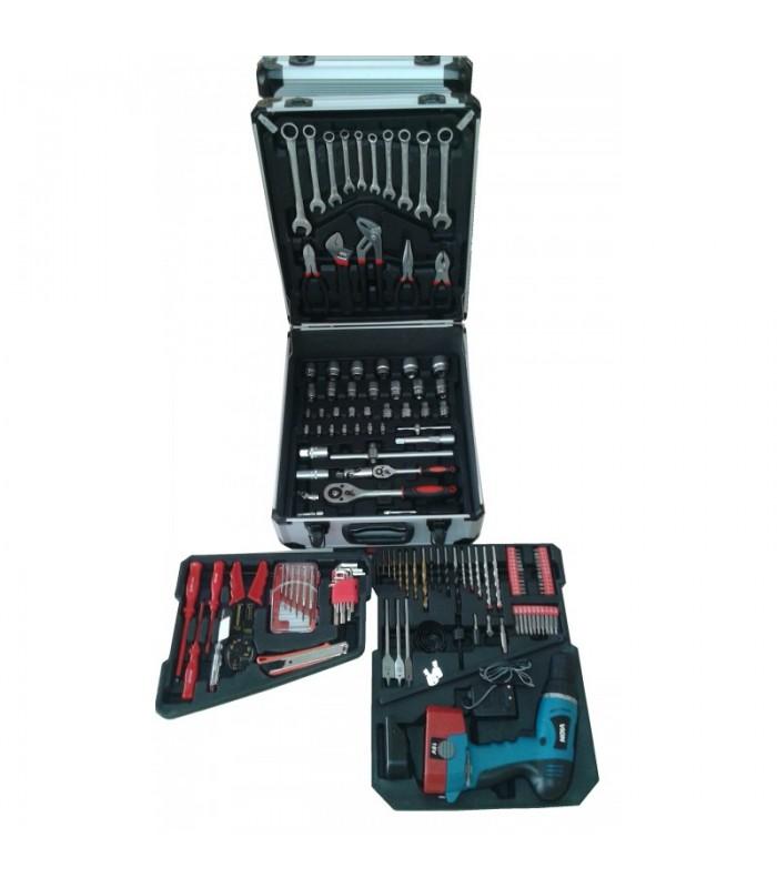 Куфар с инструменти 164 части + винтоверт